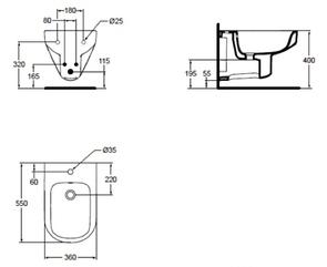 Биде подвесное Ideal Standard PLAYA J492801