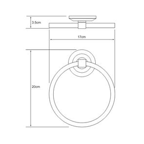 Держатель полотенец кольцо Wasser Kraft K-6260