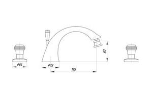 Смеситель для раковины Migliore Axo Swarovski ML.AXO-625F