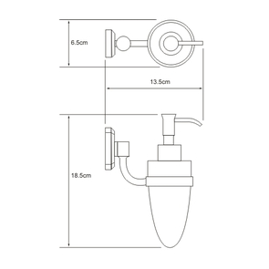 Дозатор для жидкого мыла стеклянный, 160 мл Wasser Kraft K-3099
