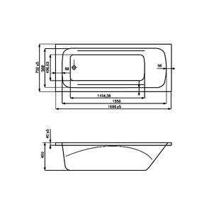 Ванна акриловая Roca Line 170x70 ZRU9302924