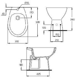 Биде напольное Ideal Standard ECCO W804001