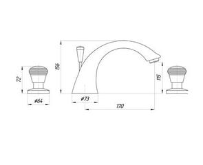 Смеситель для раковины Migliore Axo Swarovski ML.AXO-613F