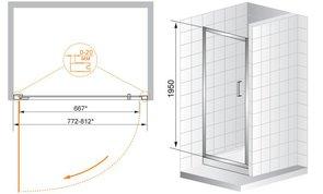 Душевая дверь CEZARES PORTA B11