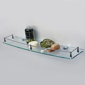 Полка стеклянная с бортиком Wasser Kraft  K-555