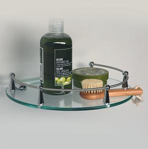 Полка стеклянная с бортиком Wasser Kraft  K-566