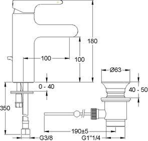 Смеситель для раковины Jacob Delafon Singulier E10860-CP