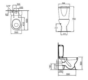 Унитаз напольный Ideal Standard ECCO NEW W904201