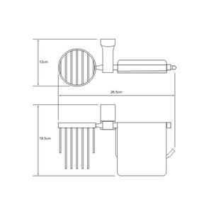 Держатель туалетной бумаги и освежителя Wasser Kraft К-5059