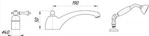 Смеситель врезной на борт ванны Migliore Bomond ML.BMD-9755