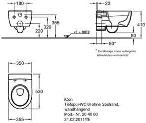 Унитаз подвесной Keramag iCon 204060000 безободковый