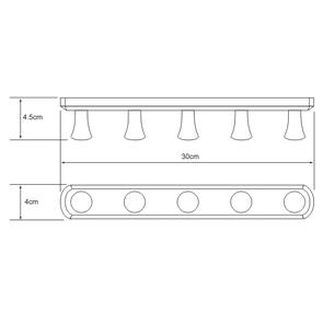 Кронштейн настенный 5 крючков Wasser Kraft K-1075
