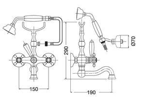 Смеситель для ванны с душем Migliore Arcadia BN.ARC-8302