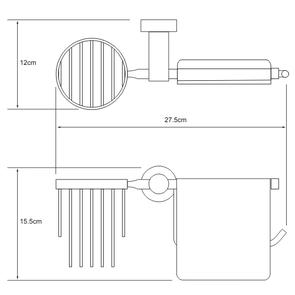 Держатель туалетной бумаги и освежителя Wasser Kraft K-9459