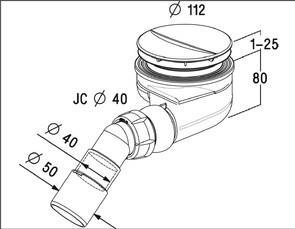 Сифон для душевых поддонов  RADAWAY TB 90P