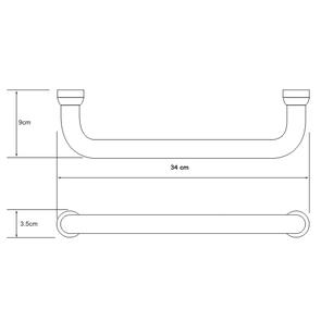 Поручень для ванны, 34 см Wasser Kraft K-1066