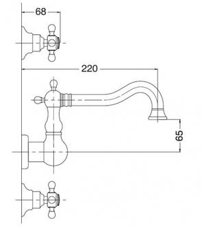 Смеситель для раковины Migliore Arcadia BN.ARC-8370