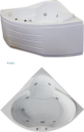 Ванна акриловая BellRado КЛЕО 126х126х73