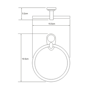 Держатель полотенец кольцо Wasser Kraft K-9260
