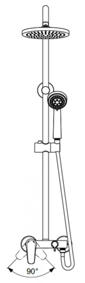 Душевая система Vidima Balance BA271AA