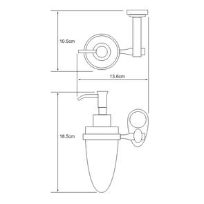 Дозатор для жидкого мыла стеклянный 160 мл Wasser Kraft К-9299