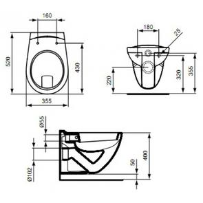 Унитаз подвесной Ideal Standard EUROVIT V340301