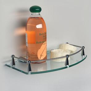 Полка стеклянная с бортиком Wasser Kraft  K-588