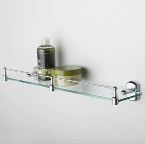 Полка стеклянная с бортиком Wasser Kraft K-3044
