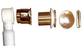 Слив-перелив для ванны BelBagno арт. BB39-OVF-BRN, бронза